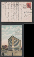 1919 Pacific Building Vancouver BC Picture Postcard Canada Vancouver Censored To Japan - Covers & Documents