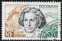 N° 1382   FRANCE  -  OBLITERE -  LUDOVIC VAN BETHOVEN   -  1963 - Used Stamps