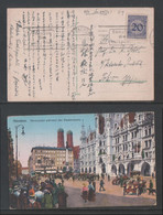 1924 Munchen Picture Postcard Deutsches Reich To Japan - Covers & Documents
