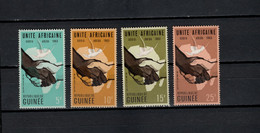 Guinea 1963 Michel 200-203 Conference African States Set Of 4 MNH - Guinee (1958-...)