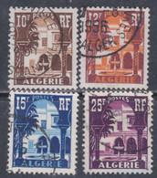 Algérie N° 313A / 314A O Cour Mauresque Du Musée Du Bardo Les 4 Valeurs Oblitérées, Sinon TB - Unused Stamps