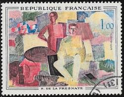 N° 1322  FRANCE  -  OBLITERE -  TABLEAU 14 JUILLET DE R. DE LA FRESSANGE  - 1961 - Used Stamps