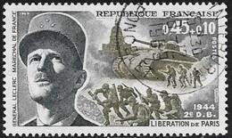 N° 1607   FRANCE  - OBLITERE  -   LIBERATION DE PARIS  LECLERC  -  1969 - Used Stamps