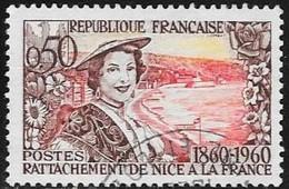 N° 1247   FRANCE - OBLITERE  -  NICOISE   -  1960 - Used Stamps
