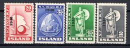 IJsland: 1940 - Wereldtentoonstelling Met Opdruk, Mi 218-221 Postfris / MNH - Unused Stamps