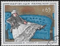 N° 1364   FRANCE  -  OBLITERE -  TABLEAU MME MANET AU CANAPE BLEU  -  1962 - Used Stamps