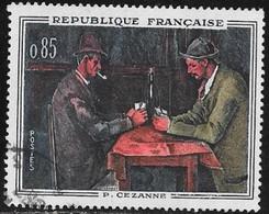 N° 1321  FRANCE  - OBLITERE  -   TABLEAU LES JOUEURS DE CARTE P. SEZANNE  -  1961 - Used Stamps
