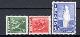 IJsland: 1940 - Frankeerzegels, Mi 215-217 Postfris / MNH - Unused Stamps
