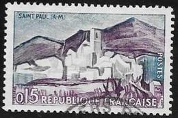 N° 1311  FRANCE  - OBLITERE  -  ST PAUL DE VENCE  -  1961 - Used Stamps