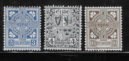 Ireland 1940 - 42 Arms Celtic Cross 3v Used - Used Stamps