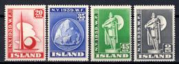 IJsland: 1939 - Wereldtentoonstelling New York, Mi 204-207 Postfris / MNH - Unused Stamps