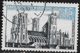 N° 1235 FRANCE - OBLITERE  -  CATHEDRALE DE LAON  -  1960 - Used Stamps