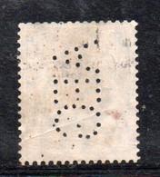 Y268 - GERMANIA , 50 Pf Usato : Perfin AEG - Oblitérés