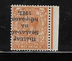 Ireland 1922 Overprint Inverted In Black Error Mint Hinged - Unused Stamps