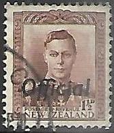 NZ  1938  Sc#O74   1 1/2d  Official  Used  2016 Scott Value $10.50 - Officials