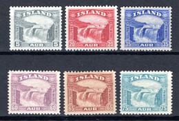 IJsland: 1931 - Gullfoss Waterval, Mi 150-155 Ongebruikt / MH - Unused Stamps