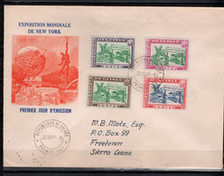 Guinea 1964 Michel 253-256 Expo New York Set Of 4 On FDC - Guinee (1958-...)