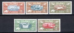 IJsland: 1930 - Allthings Luchtpost, Mi 142-146 Ongebruikt / MH - Unused Stamps