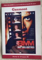 Cinema Gaumont 1999 'huit Millimetres' Nicolas Cage - Plakate Auf Karten