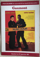 Cinema Gaumont 1999 'rush Hour' Jackie Chan Kris Tucker - Plakate Auf Karten