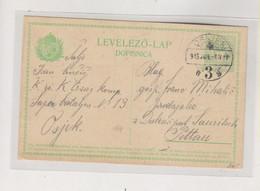 CROATIA HUNGARY 1915 OSIJEK  Postal Stationery - Croatia