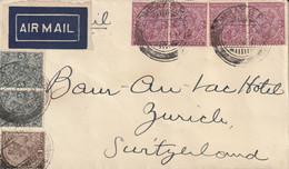 Inde Lettre Bombay Pour La Suisse 1933 - 1911-35 King George V