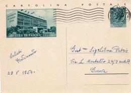Cartolina Postale - FIERA DI PADOVA 1954 - VIAGGIATA - Interi Postali