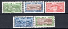 IJsland: 1925 - Beelden Van IJsland, Mi 114-118 Ongebruikt / MH-MLH - Unused Stamps