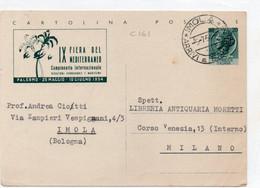 Cartolina Postale - IX FIERA DEL MEDITERRANEO 1954 - VIAGGIATA - Interi Postali
