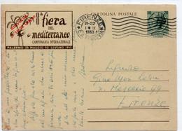 Cartolina Postale - 8° FIERA DEL MEDITERRANEO 1953 - VIAGGIATA - Interi Postali