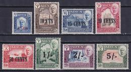 ADEN 1951, SG# 20-27, CV £32, Surcharged, Architecture, MH - Aden (1854-1963)