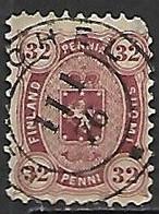 Finland  1875   Sc#16   32p    Used   2016 Scott Value $425 - Gebraucht