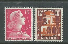 Algérie N° 329 + 335  X  Les 2 Valeurs Trace De Charnière Sinon TB - Unused Stamps