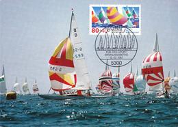 1987.02.12. Germany - World Championship, Sailing, Maximum Card - Maximumkarten (MC)