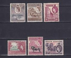 KENYA UGANDA TANGANYIKA 1954/59, SG# 167-176, Part Set, Animals, MH - Kenya, Uganda & Tanganyika