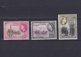 GOLD COAST 1952/54, SG# 162-164, CV £63, Part Set, Trees, MH - Gold Coast (...-1957)