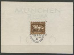 DEUTSCHES REICH 1936: Block 4, O - KOSTENLOSER VESAND AB 10 EURO - Blocks & Kleinbögen