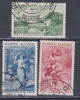 ALGERIE N° 346 / 48 O Pour Les Oeuvres Sociales De L'armée Les 3 Valeurs Oblitérées TB - Unused Stamps