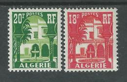 Algérie N° 340A + 341 XX Cour Mauresque Du Musée De Bardo,  Les 2 Valeurs Sans Charnière, TB - Unused Stamps