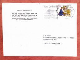 Brief, Europa Postschalter, MS Autofaehre Konstanz-Meersburg, Nach Stuttgart 1979 (5302) - Brieven En Documenten