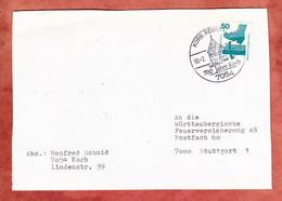 Brief, Unfallverhuetung, SoSt 700 Jahre Korb, Nach Stuttgart 1976 (5304) - Brieven En Documenten