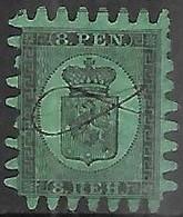 Finland  1867   Sc#7   8p    Used   2016 Scott Value $170 - Gebraucht