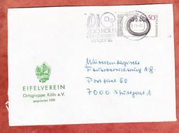 Zudruckumschlag Eifelverein, Halsring, MS Pinguine Zoo Koeln, Nach Stuttgart 1976 (5306) - Brieven En Documenten