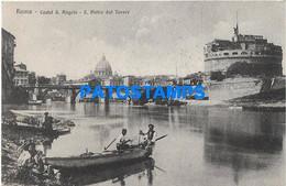 172203 ITALY ROMA LACIO CASTLE S. ANGELO S. PIETRO POSTAL POSTCARD - Zonder Classificatie