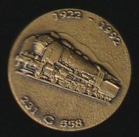 72845-Pin's.Locomotive à Vapeur Pacific 231 G 558.SNCF.train.signé Pichard. - Transportation