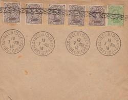 GOOD OLD BELGIUM Postal Cover 1918 - Albert I - 1915-1920 Albert I