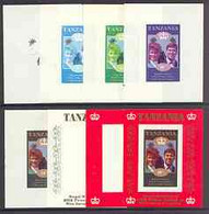 Tanzania 1986 Royal Wedding (Andrew & Fergie) The Unissued 10s Individual Imperf Deluxe Sheet, The Set Of 8 Progressive - Tanzania (1964-...)
