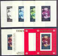 Tanzania 1986 Royal Wedding (Andrew & Fergie) The Unissued 20s Individual Imperf Deluxe Sheet, The Set Of 8 Progressive - Tanzania (1964-...)