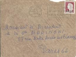 Marianne De Decaris Avec Flamme Saint Denis Sur Devant D'enveloppe - Lettres & Documents