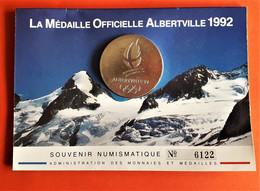 """Médailles Officielle """"ALBERVILLE"""" 1992 Monnaie De Paris - Other"""